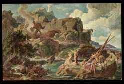 Il quadro è visibile nella sala comunale del municipio di Capri