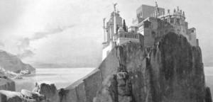 Una delle tante fantasiose ricostruzioni di come poteva apparire la villa di Tiberio