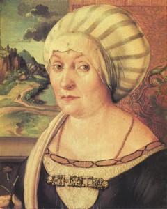 Albrecht Dürer;  ritratto di Felicitas Tucher